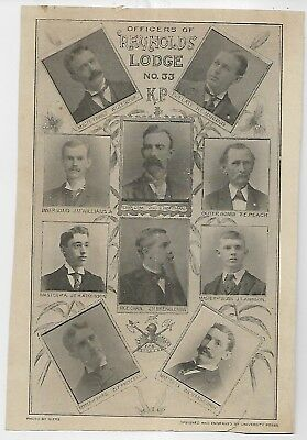 1910 Nashville Tennessee Knights @ Pythias Reynolds Lodge 33; officers pix GIERS