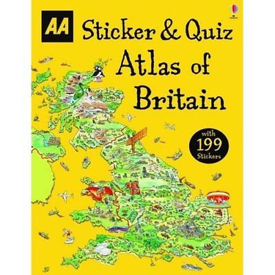 Sticker & Quiz Atlas of Britain (Activity Books) - Paperback NEW AA Publishing(A
