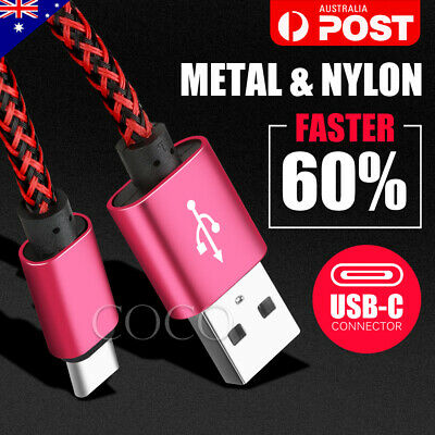 For Samsung Type-C Data Fast Charger USB Cable Cord Galaxy S8 Plus S9 S10+ NOTE