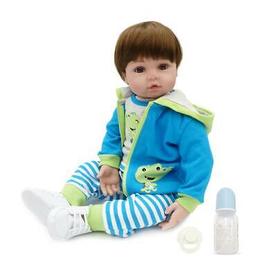 "20"" Handmade Lifelike Reborn Newborn Baby Doll Full Silicone Vinyl Bath Girl Toy"