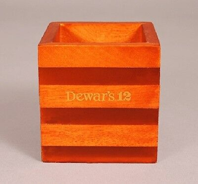 New DEWAR 12 Wood & Lucite votive CANDLE HOLDER - NICE!