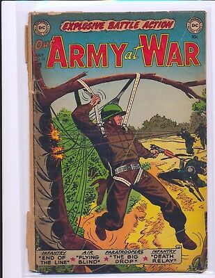 Our Army At War # 12 Poor Cond. cover detached & completely split