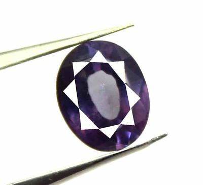 7.20Ct Certified Natural Sizzling Oval Cut Color Changing Alexandrite Gems AJ272