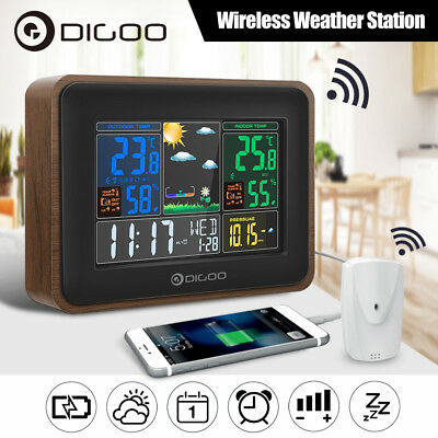 Digoo LCD Color Digital Weather Station Moon Phase Hygrometer Thermometer Sensor