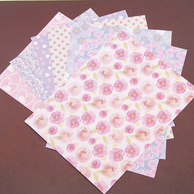 14PCS Floral Heart Paper DIY Photo Album Background Scrapbooking Card Decor