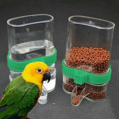1*acrylic Parrot Cockatiel Canary Bird Feeder Automatic Seed Water Feeder Cage