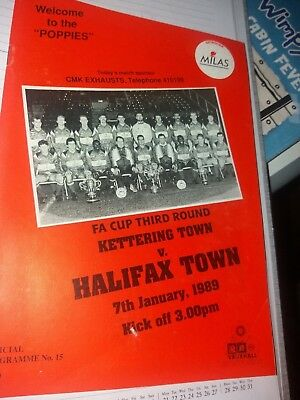 Kettering Town v Halifax Town, 1988-89, FA Cup
