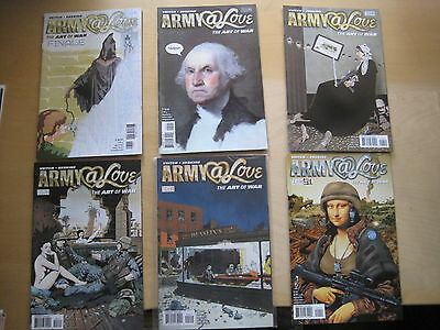 ARMY @ LOVE, The ART of WAR : COMPLETE 6 ISSUE SERIES by VEITCH. DC VERTIGO.2008