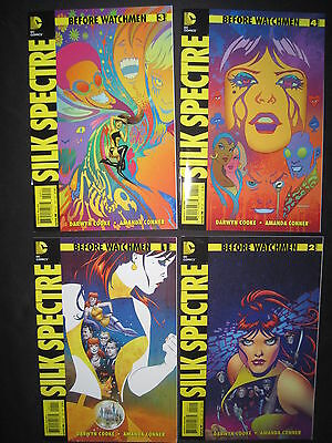 BEFORE WATCHMEN : SILK SPECTRE : complete 4 issue series by COOKE,CONNER.DC.2012