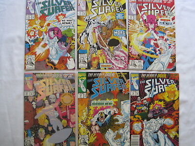 """SILVER SURFER 70,71,72,73,74,75 """"The Herald Ordeal """":COMPLETE 6 ISSUE STORY.1992"""