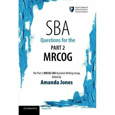 Sba Questions for the Part 2 Mrcog - Paperback NEW Amanda Jones (A 2015-02-26