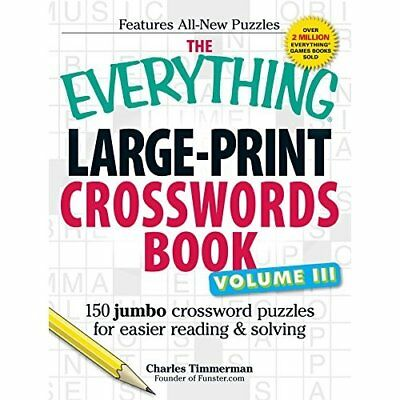 The Everything Large-Print Crossword Book, Volume III:  - Paperback NEW Timmerma