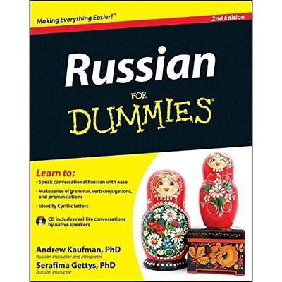 Russian For Dummies (For Dummies - Paperback NEW Andrew Kaufman  2012-03-02
