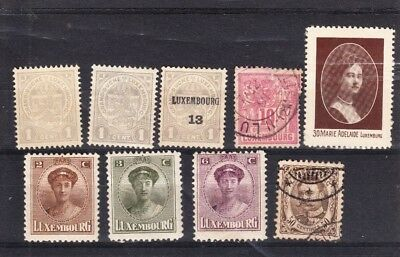 Collection of LUXEMBOURG stamps (26) on two stock cards