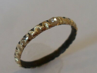 Superb,viking Twisted Finger Ring With Real Diamond.detector Find.exp Polished.