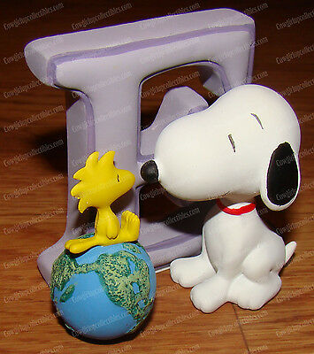 Letter E (Peanuts Alphabet by Wesland, 8575) Snoopy & Woodstock (Earth)