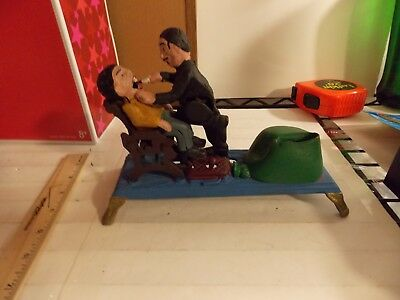 Dentist Pulling Mans Black Tooth The Book of Knowledge Cast Iron Mechanical Bank