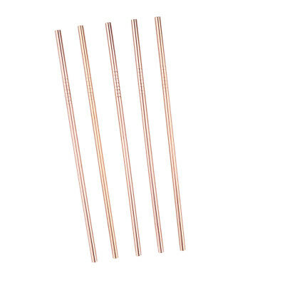 5 Pieces Stainless Steel Drinking Straws, Reusable, for Tumblers -- 21.5cm