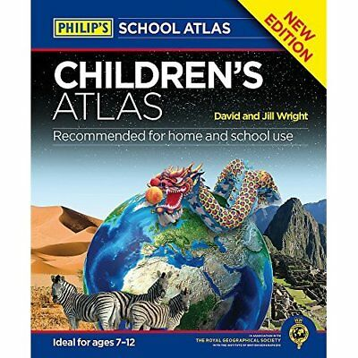 Philip's Children's Atlas (World Atlas) - Hardcover NEW David Wright (A 07-Apr-1