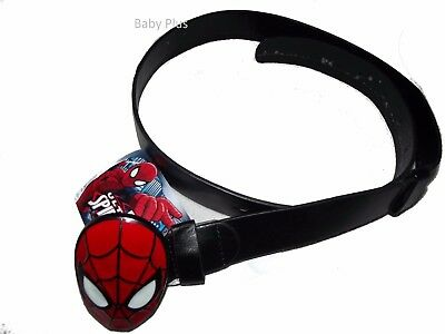 bnwt marvel spiderman large metal buckle belt adjustable 4-8 yrs
