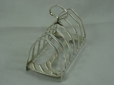 QUALITY  solid silver ART DECO TOAST RACK, 1934, 127gm