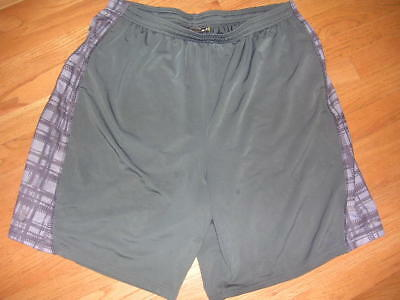 UNDER ARMOUR GRAY Mens ATHLETIC shorts Size XL LOOSE FIT
