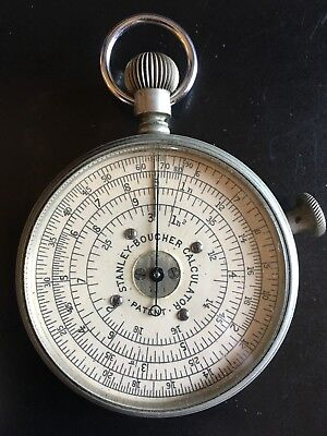 Boucher Watch Style Circular Slide Rule Calculator by W.F. Stanley