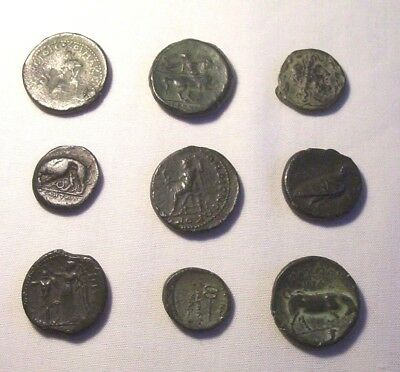 Collection of Grand Tour Greek Coins.   Museum display Replicas