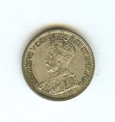Canada 1929 Silver 10 Cents  About Unc