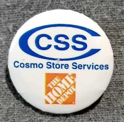 LMH PINBACK Pin Button HOME DEPOT Employee CSS Cosmo Store Services Research