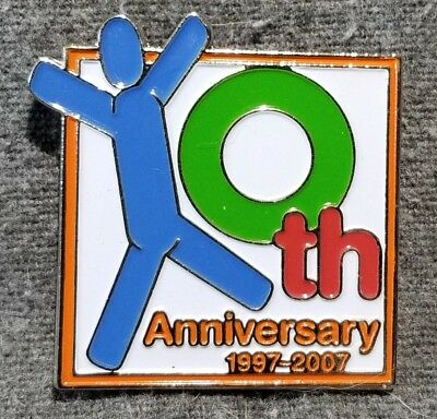 LMH PINBACK Pin HOME DEPOT Employee Apron 1997 2007 10th ANNIVERSARY