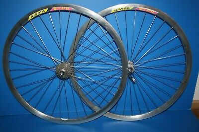 Paire Roues Rigida Dp18 Campagnolo Veloce Velo Course Vintage Wheel Bike 700 C