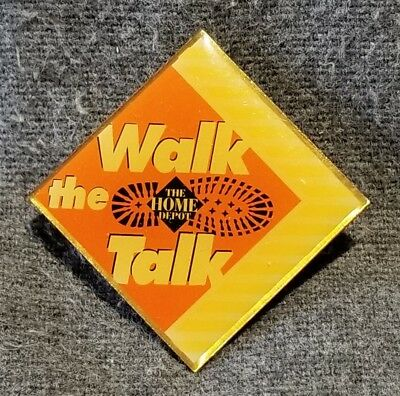 LMH PINBACK Pin HOME DEPOT Employee Apron WALK THE TALK Slogan