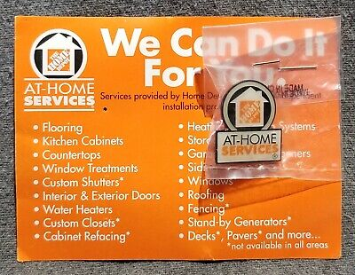 LMH PINBACK Pin HOME DEPOT Employee Apron AT HOME SERVICES Repair Installation