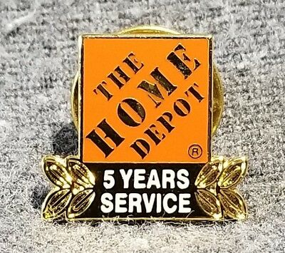 LMH PINBACK Tie Lapel Pin HOME DEPOT Employee Apron 5 YEARS SERVICE Award