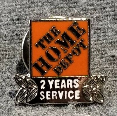 LMH PINBACK Tie Lapel Pin HOME DEPOT Employee Apron 2 YEARS SERVICE Award