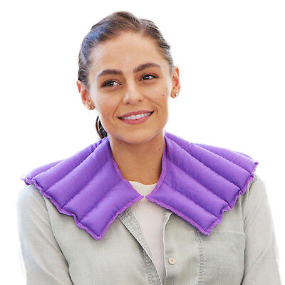 My Heating Pad- Natural Rice Filled Neck & Shoulder Soothing Heat Wrap (Purple)