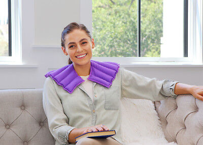 Natural Rice Filled Microwaveable Neck & Shoulder Wrap My Heating Pad (Purple)