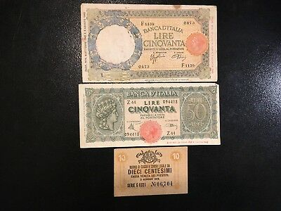 ITALY  (3 Old Notes)