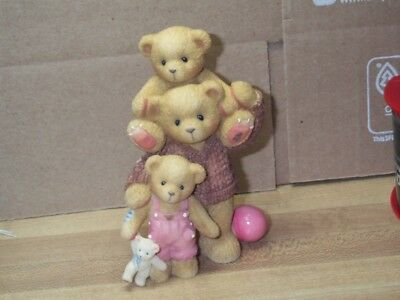 Cherished Teddies You Have Special Way Lifting Spirits Baby Bear Dad's Shoulder