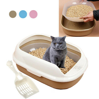 Pet Litter Large Cat Cleaning Box Tray House Toilet Plastic Portable Scoop Spade