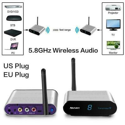 5.8Ghz AV Sender TV Audio Video Signal 300M Wireless Transmitter Receiver