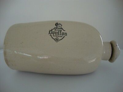 Antique Royal Doulton London Bed / Foot Warmer Stoneware Water Bottle
