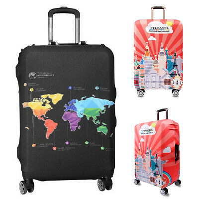 """Portable Elastic Luggage Trolley Case Cover Suitcase Protector Case Bag 18""""-32''"""