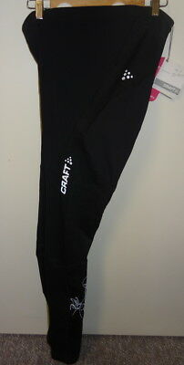 BNWT Womens Craft Active Thermal Cycle Bike Tights Size XL Black 1/2 Price!