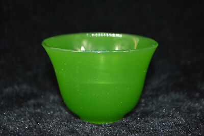 chinese Collectible Vintage green coloured glaze handwork burnish Statue cup