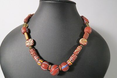 Collier antike trade beads Venedig Murano C9 Antique Necklace beads Afrozip