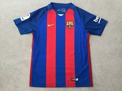 Barcelona Home Shirt Size 'Med Boys 10/12 Yrs' Nike Good Condition No Reserve