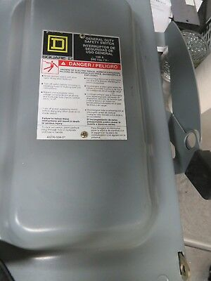 Square D D323Nrb General Duty Safety Switch 100A