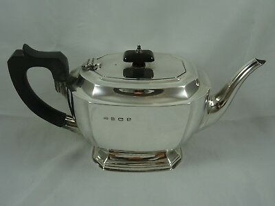 SMART ART DECO solid silver TEA POT, 1940, 587gm